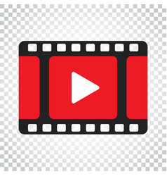 Play icon play video in flat style business vector