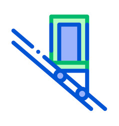 public transport inclined elevator icon vector image
