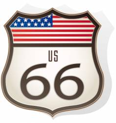 route66 sign vector image
