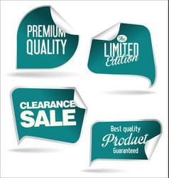 sale speech bubbles blue collection vector image