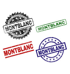 scratched textured montblanc stamp seals vector image