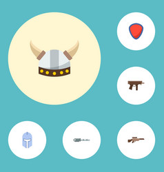 set of game icons flat style symbols with vector image