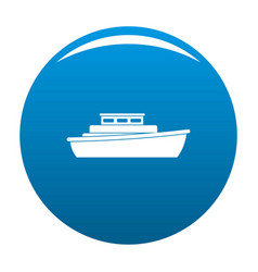 Ship design icon blue vector