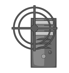 Sight on system unit icon gray monochrome style vector