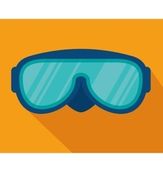 ski googles isolated icon vector image