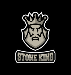 stone king logo vector image