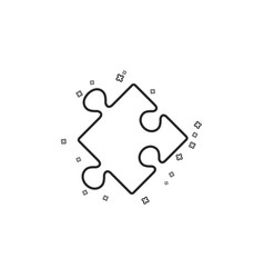 Strategy line icon puzzle symbol logical vector