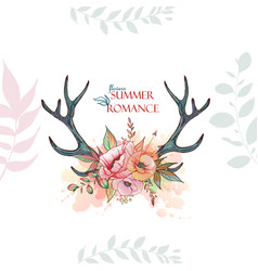 summer romace deer vector image