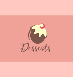 sweets logo delicious vector image