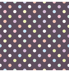 Tile polka dots pattern or seamless background vector image
