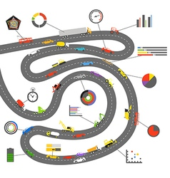 Transportation scheme with infographoc elements vector image