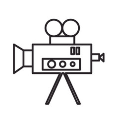 video cinema retro camera line icon sign vector image