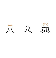Vip customer user icon person profile vector