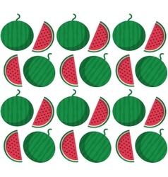 Watermelon fruits background design vector