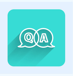 White line speech bubbles with question and answer vector