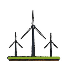 wind power electricity generator vector image