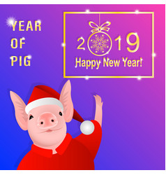 year of pig vector image