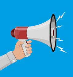 loudspeaker or megaphone announcement element vector image vector image