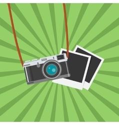 Retro Photo camera icon Flat design vector image vector image