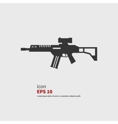Rifle assault vector image