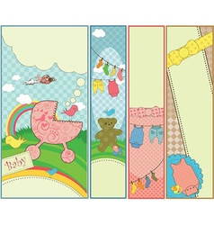 Set of 4 vertical baby themed banners vector image vector image