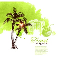 Travel tropical design vector image vector image