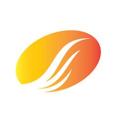 circle wing icon abstract logo vector image