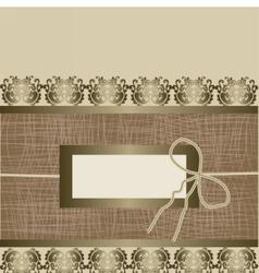 Handmade Vintage Greeting card vector image vector image