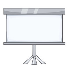 projection screen icon cartoon style vector image vector image