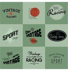 Vintage car racing badges vector image vector image
