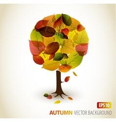 autumn tree background vector image