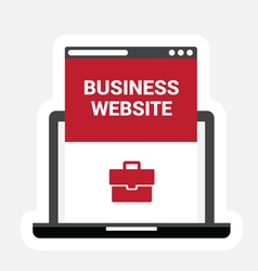 Business site icon vector