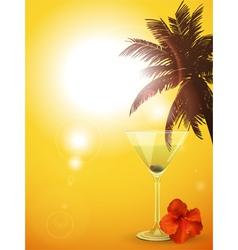 Summer cocktail background portrait vector