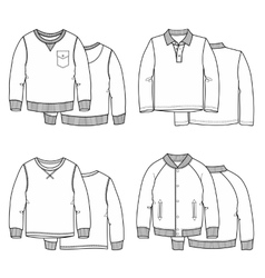 Sweaters white vector image vector image