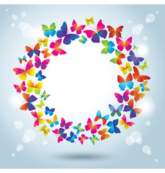 Frame with butterflies vector image