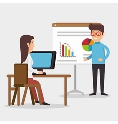 office teamwork meet conference table vector image