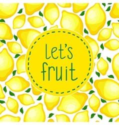 Seamless pattern of lemons vector image vector image