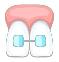 Teeth braces icon cartoon style vector image