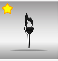 torch black icon button logo symbol vector image vector image