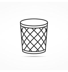 Trash Can Line Icon vector image vector image
