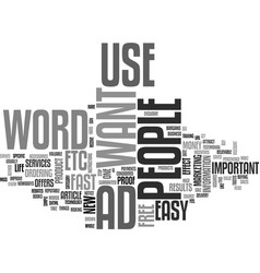 Words that can have a huge effect text word cloud vector