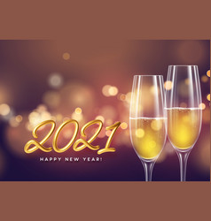 2021 golden lettering new year background with a vector image