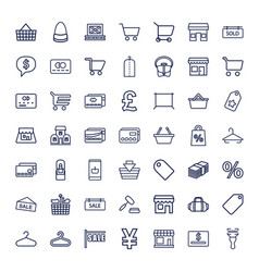 49 retail icons vector