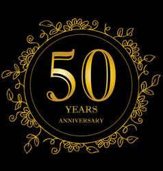 50 year anniversary celebration card vector image