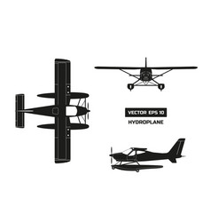 Black silhouette of plane on white background vector