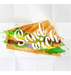 Burger sandwich watercolor vector