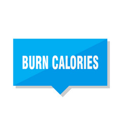 Burn calories price tag vector