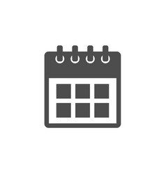 calendar icon important dates sign flat d vector image