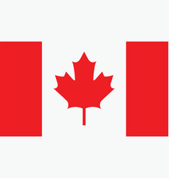 Canada flag for independence day and infographic vector