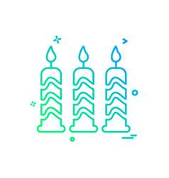 Candel icon design vector